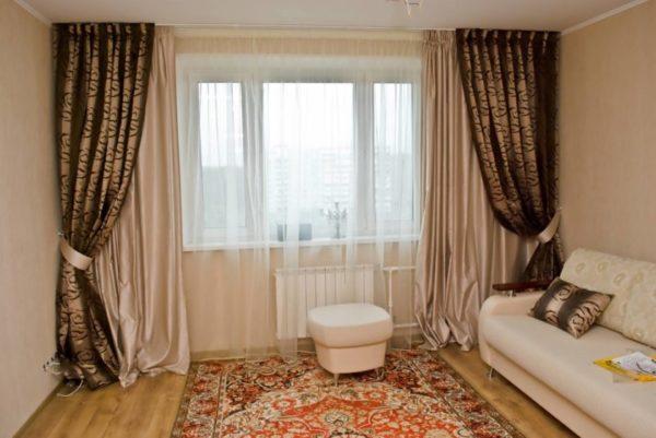 современные шторы в зал фото