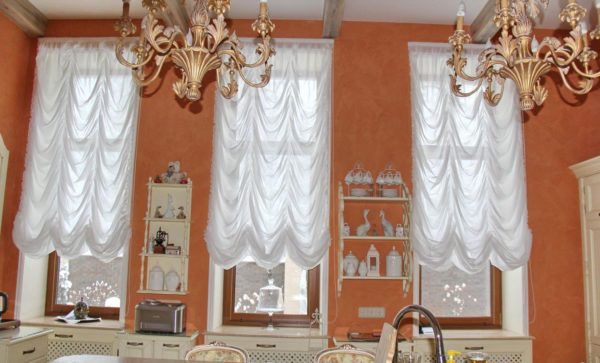 шторы на французское окно