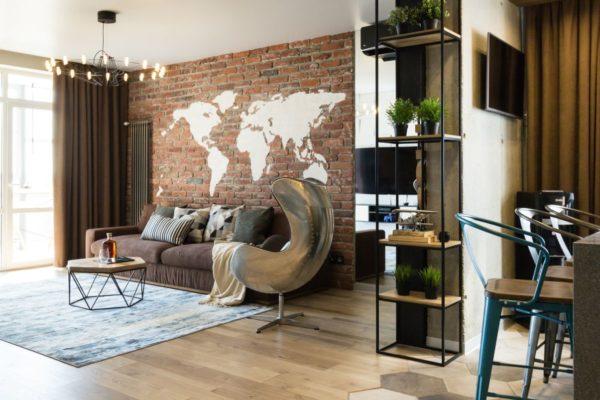 брутализм в интерьере квартиры