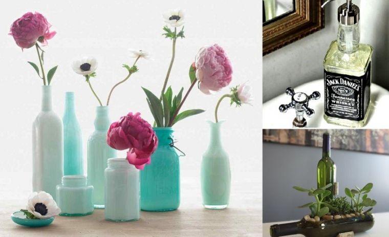 Декор бутылок - красивые идеи оформления и советы как украсить интерьер при помощи бутылок (115 фото)