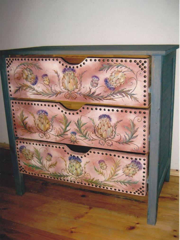 Декупаж мебели своими руками - примеры современных вариантов оформления и украшения старой и новой мебели (120 фото)