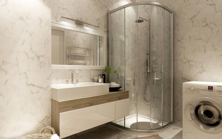 Дизайн ванной 2021 года - современные идеи оформления и актуальные сочетания материалов (85 фото)