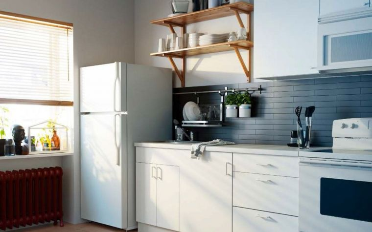 Кухня с холодильником - 90 фото примеров современного дизайна и идеи оформления кухонной бытовой техники