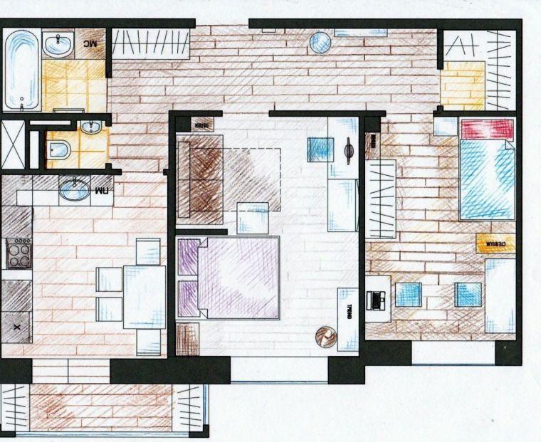 Планировка 3 комнатной квартиры - варианты интерьера и советы по выбору дизайна и стиля (140 фото)