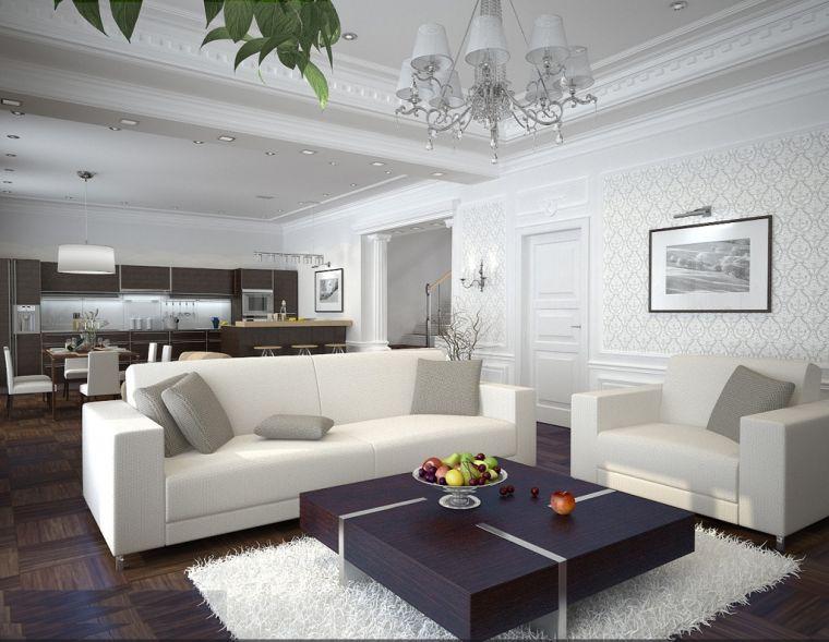 Потолок в гостиной - лучшие идеи отделки и современные варианты оформления потолков (115 фото и видео)