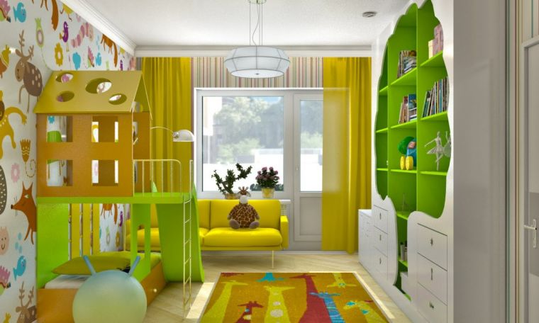 Размер детской комнаты - особенности дизайна для больших и маленьких комнат. Как правильно оформить различные по форме комнаты (80 фото)