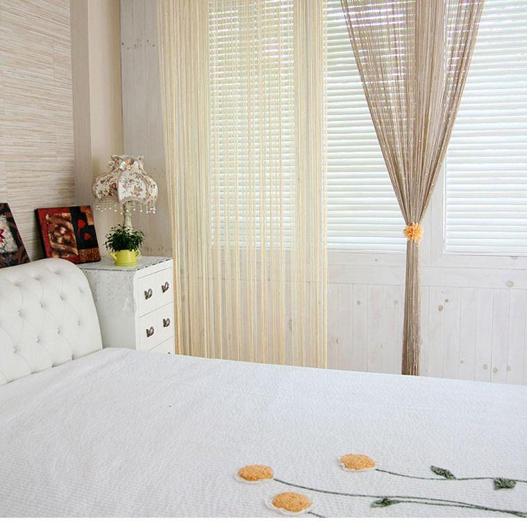 Шторы из ниток - делаем стильные и оригинальные украшения для дома или квартиры (95 фото)