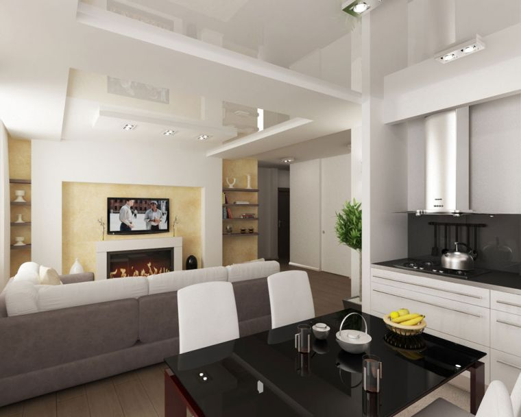 Совмещенная кухня - обзор лучших интерьеров и стильных сочетаний для комбинированных помещений (95 фото)