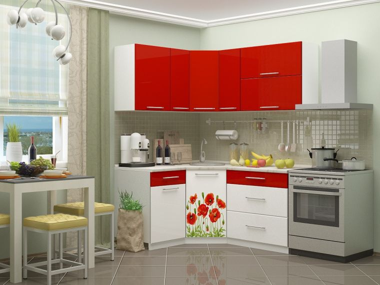 Угловые кухни - реальные фото применения и красивые решения для стильных вариантов интерьера (100 фото)