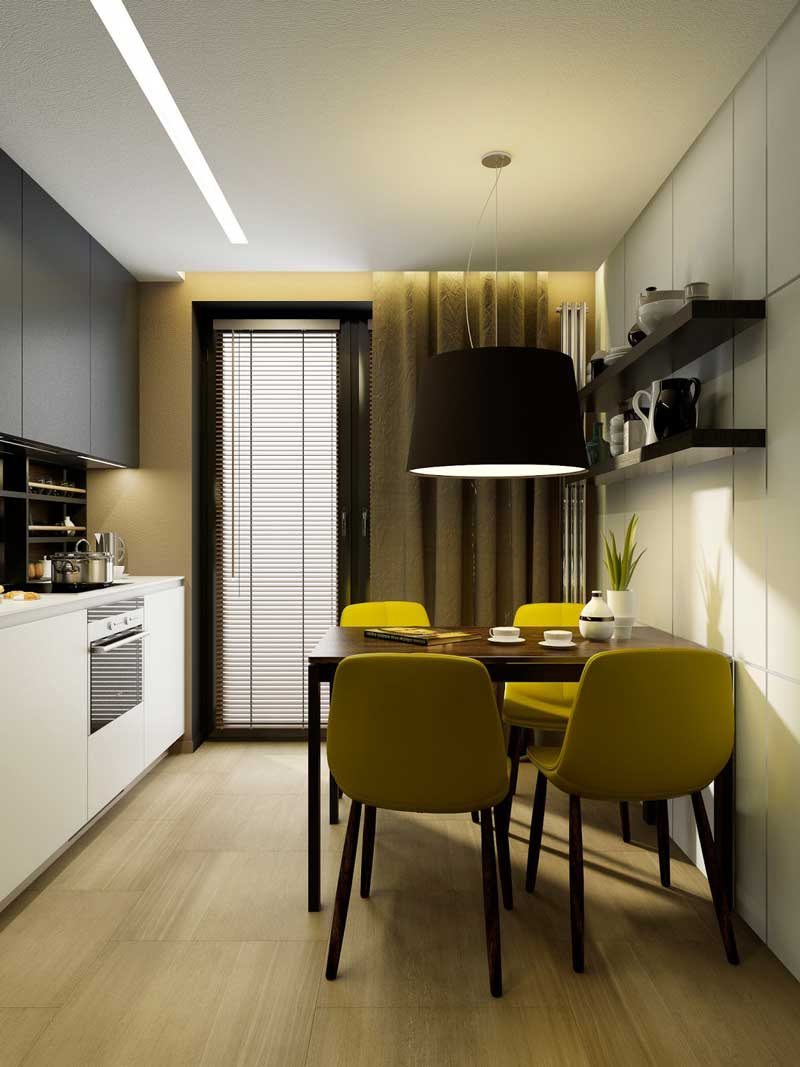 Кухни с балконом - 75 фото примеров кухонных интерьеров с выходом на балкон. Лучшие идеи оформления совмещенных кухонь