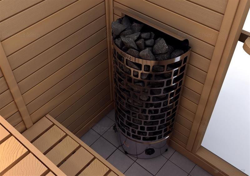 Преимущества электрической каменки в бане